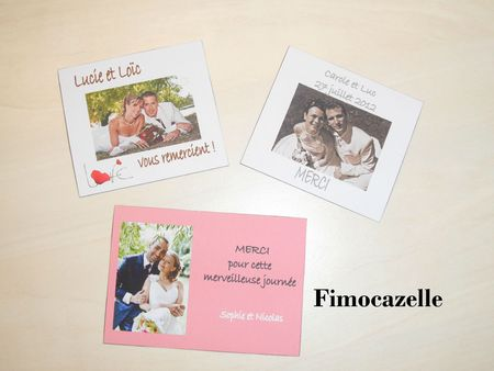 magnets remerciements mariage