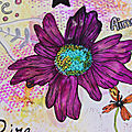 Art journal aquarelle flower power
