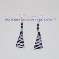 earrings pyramid zigzag black b