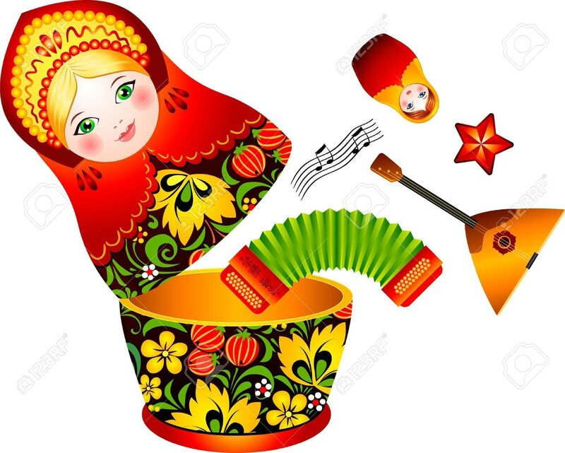 16403217-Russian-tradition-matryoshka-doll-with-music-instruments-inside--Stock-Vector