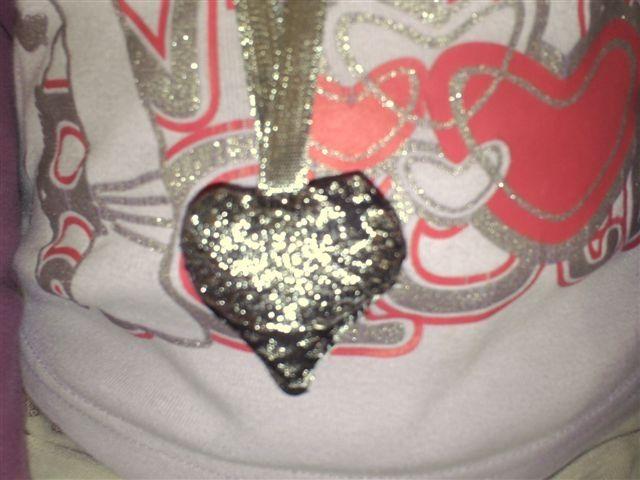 coeur et ruban coordonnés