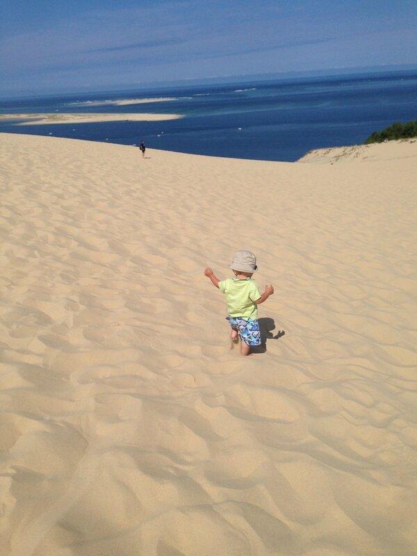 Dune du Pyla, bassin d'Arcachon, je tombe tous les 3 pas !