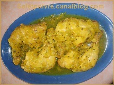 Poulet aux oignons et au gingembre