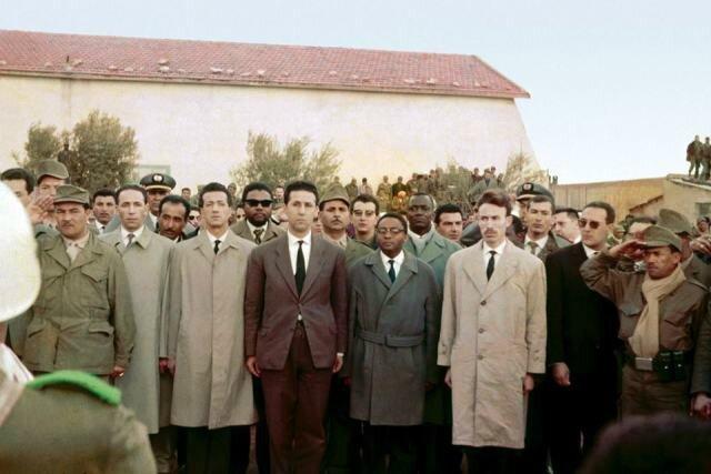 ABenBella-N Mandela-H Boumediene Maroc mars 1962
