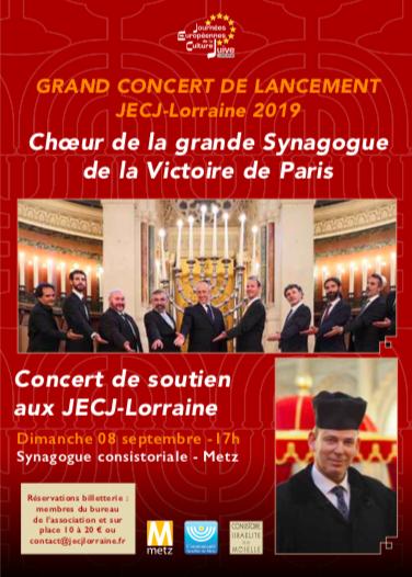 Concert de soutien pour les JECJ-Lorraine
