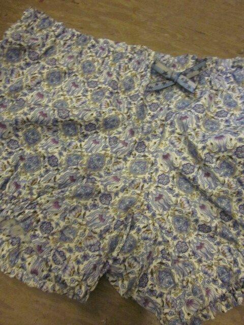 Culotte BIANCA en coton imprimé bleu - noeud bleu à étoiles (1)