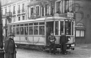 CPA Tramway 1922 Gare CCTB