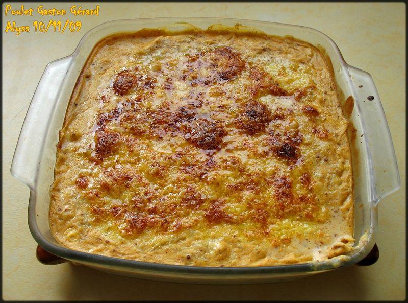 Poulet Gaston Gerard Vin Blanc Creme Moutarde Comte Delices D