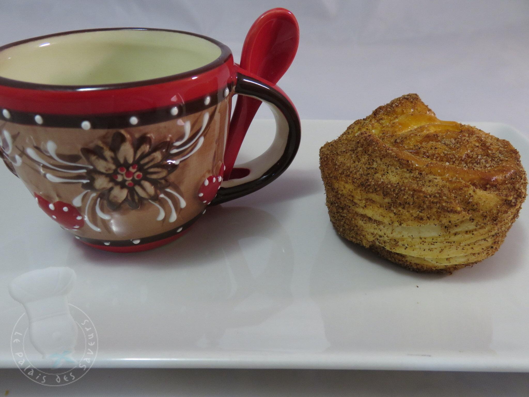 Muffin feuilleté à la cannelle
