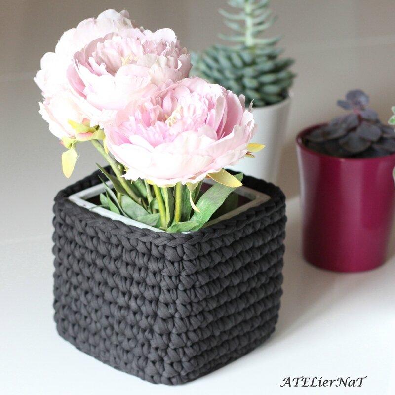 Cache-pot crochet gris6_1