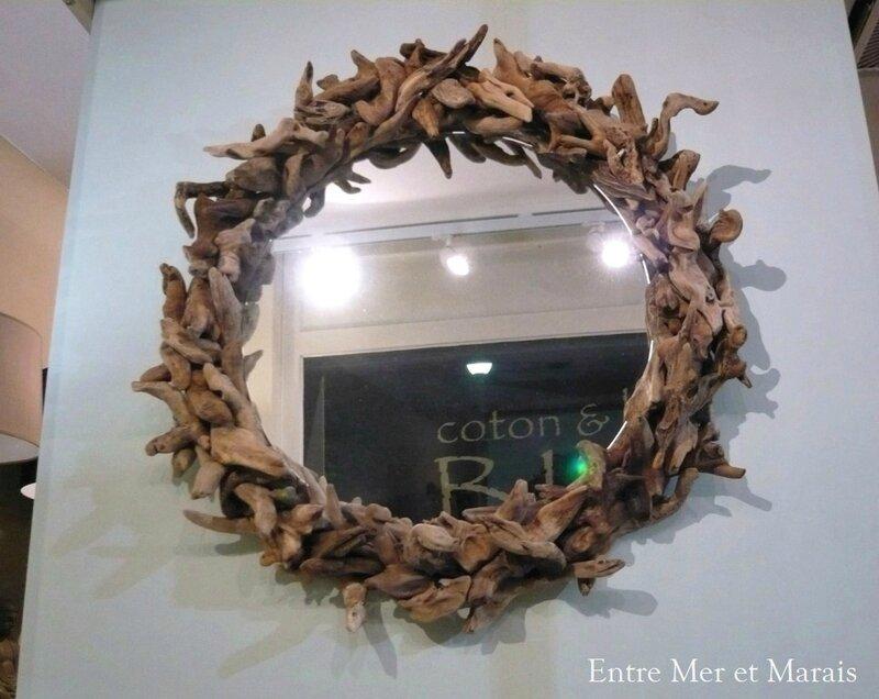 Miroir en bois flotté 1