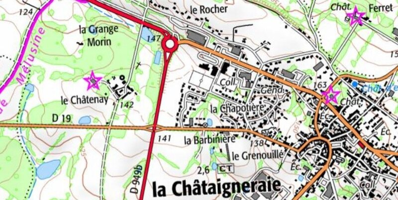 le Chatenay carte