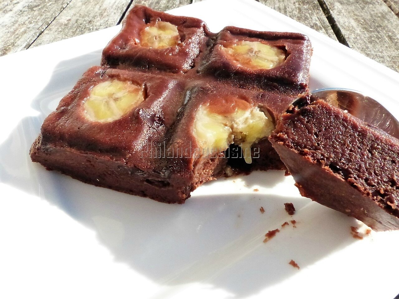 Gâteau fondant banane chocolat