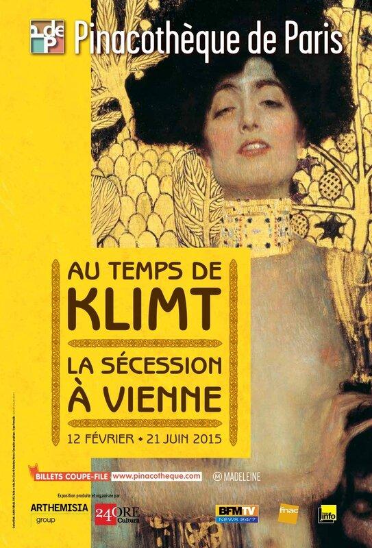 Klimt Secession Pinacotheque 2015 Affiche