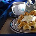 Gaufres express a l'huile-au babeurre et zeste de citron