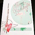 Carte anniversaire fille