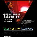 #concert jann halexander 'ceci n'est pas l'afrique' 12 octobre atelier du verbe, paris