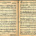 Sheet music - toi l'étranger - partition 1960