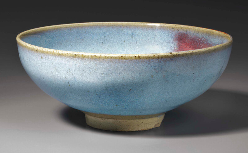 copper-red-splashed Junyao bowl, Song dynasty, 12th-13th century