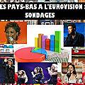 Les pays-bas a l'eurovision : sondages, à vous de voter !