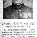 Mort du capitaine gagin 72e ri