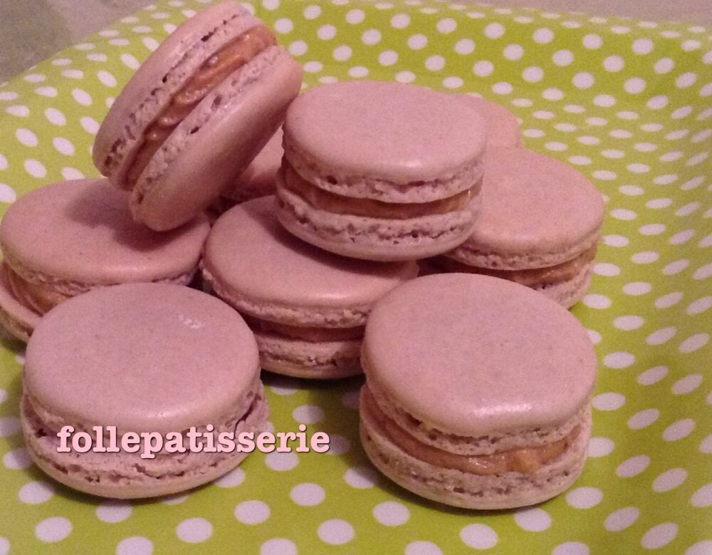 Macaron A La Pralinoise Avec Meringue Francaise Enfin Fati
