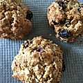 Biscuits aux flocons d'avoine et raisins secs/oatmeal and raisin cookies