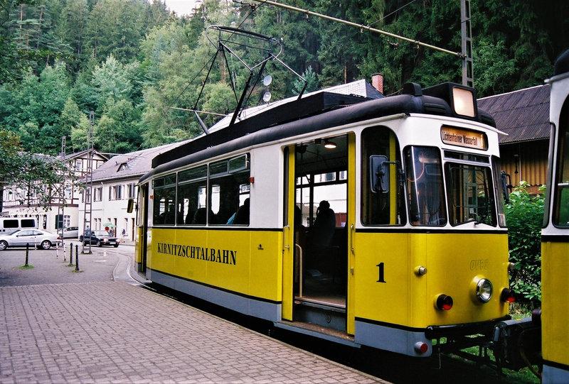 77-Petit tramway dans la vallée de Kirnitzschtal, à partir de Bad Schandau (2)
