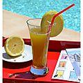Citronnade au basilic citron