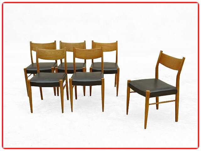 chaises scandinaves 1960 teck blond