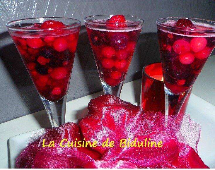 Fruits rouges en gelée de Champagne - La Cuisine de Biduline
