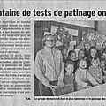 On en parle dans la presse : les tests de patinage ainsi que les résultats complets et les photos