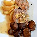 Filet mignon aux fruits d'automne