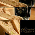 Biscotti aux pistaches et zestes d'orange