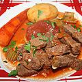 Spezzatino di manzo (ragoût de bœuf)