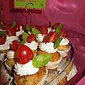 Mini cupcakes tomates confites/ parmesan