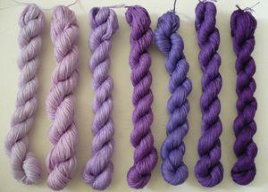 Mouliné violet parme