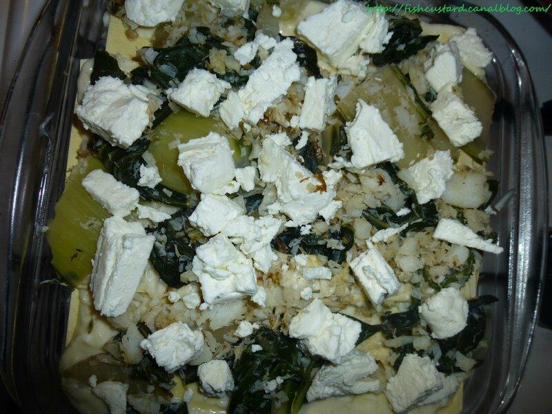 Lasagnes cabillaud, blettes et tome de chèvre frais (1)