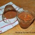 Mousse au chocolat à la poudre d'orange