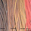 lien daim de différentes couleurs