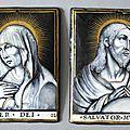 Le christ et la vierge, limoges, jacques i laudin (1627-1695)
