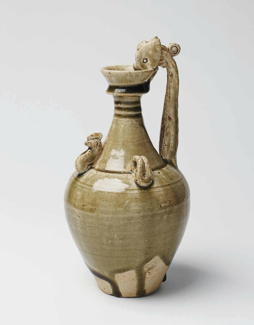 Green Glazed Amphora, Late Sui – Early Tang Dynasty, 6th – 7th c