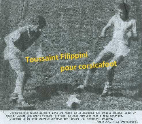 018 1063 - MEP - Filippini Toussaint - Claude Papi - Ses débuts à 1967
