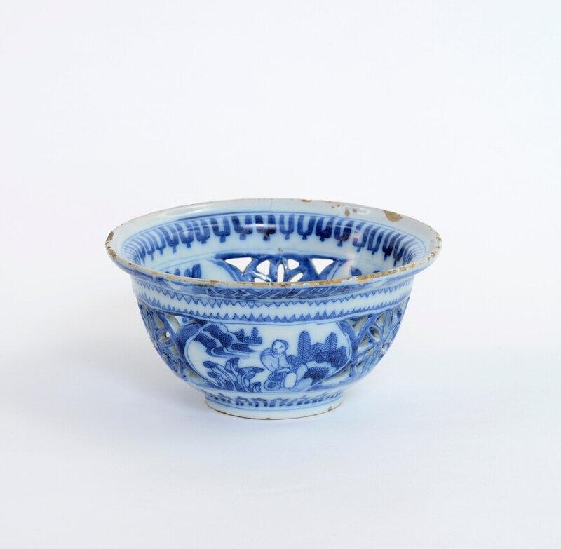 Blue and White Small Bowl, Delft, circa 1670
