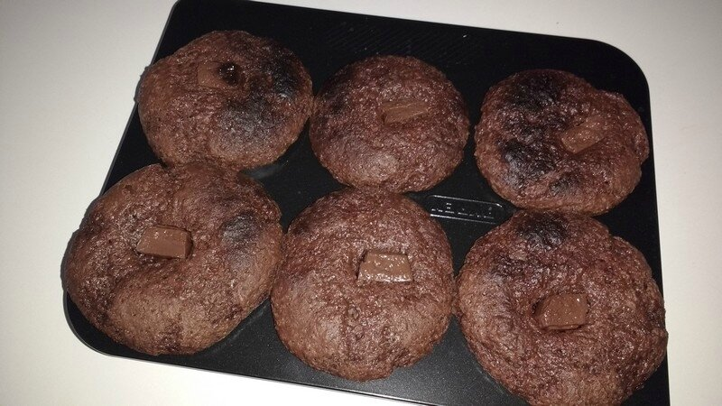 Muffins-chocolat-cuits