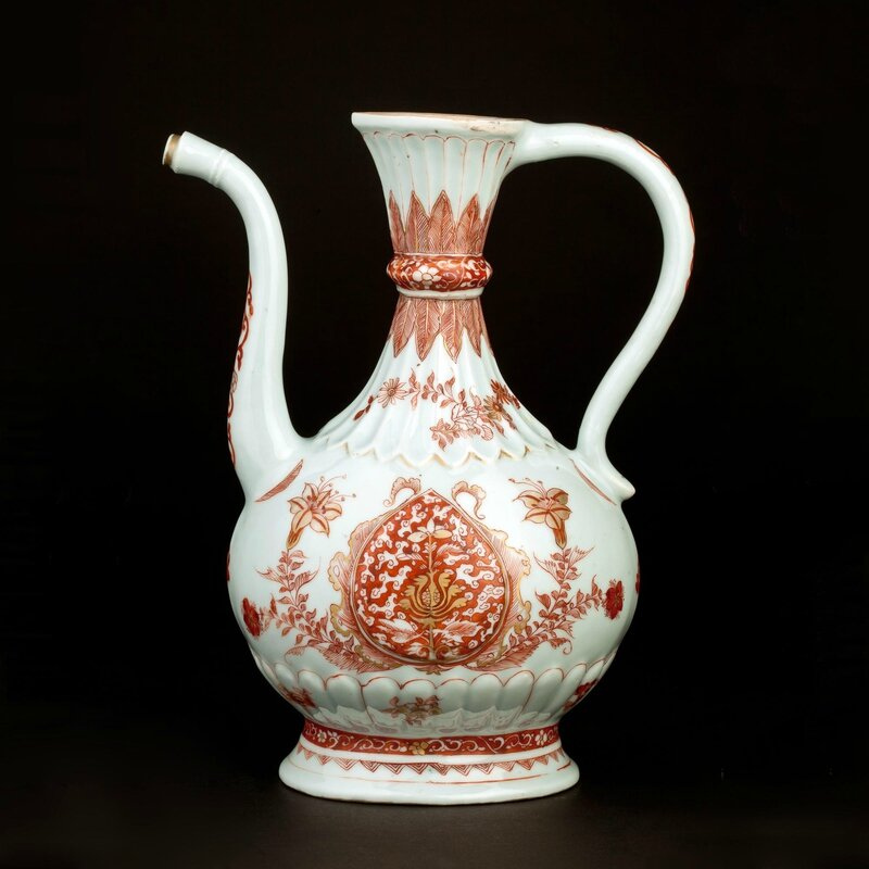 Chinese iron red ewer made for the Indian market, Jingdezhen, China, circa 1710