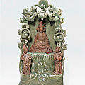 A longquan celadon shrine of the south sea guanyin, ming dynasty, 15th century