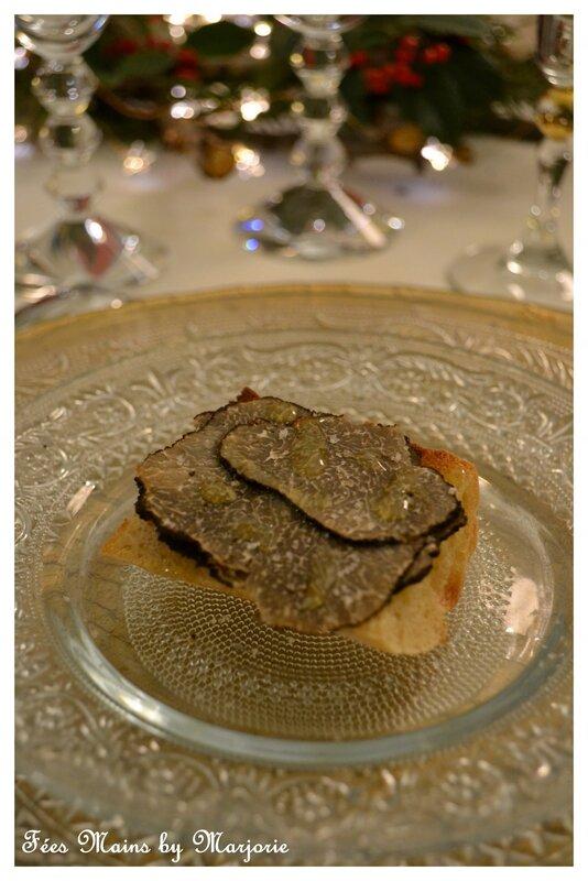 Menu de fêtes Truffe noire à la croque au sel