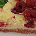 Cheesecake framboises & biscuits roses selon betsa