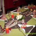 Table réveillon du 31 décembre 2008